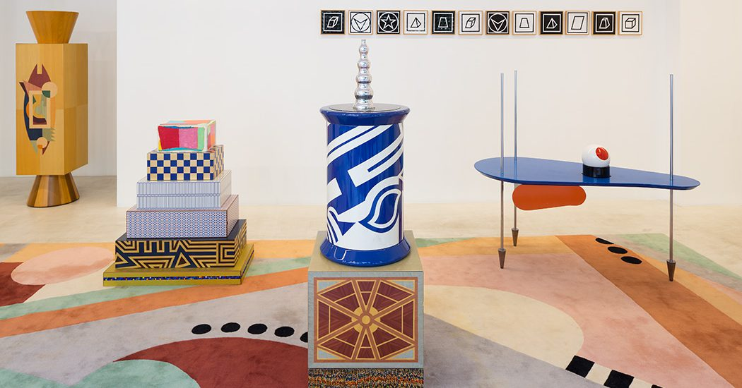 Vue de l'exposition « Spazio Tattile : Chapitre 2 – Maison d'un collectionneur », Galerie Italienne, Paris.