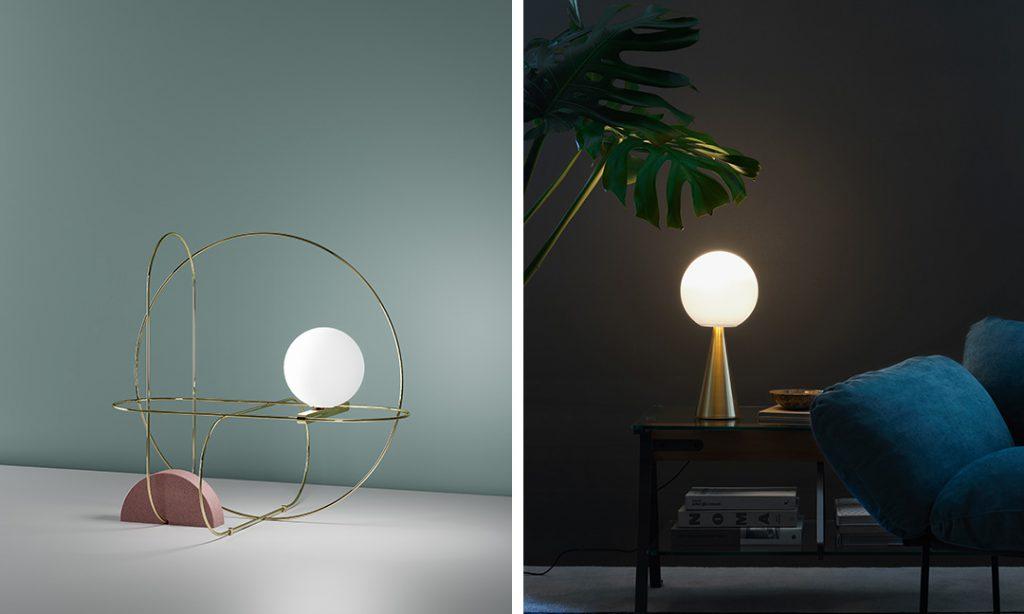Lampe de table Setareh de Francesco Librizzi, Lampe Bilia, Gio Ponti, Fontana Arte. Photo © Fontana Arte