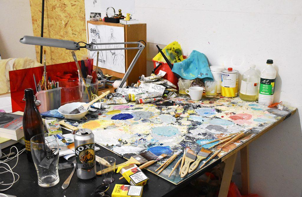 Vue de l'atelier de David Weishaar