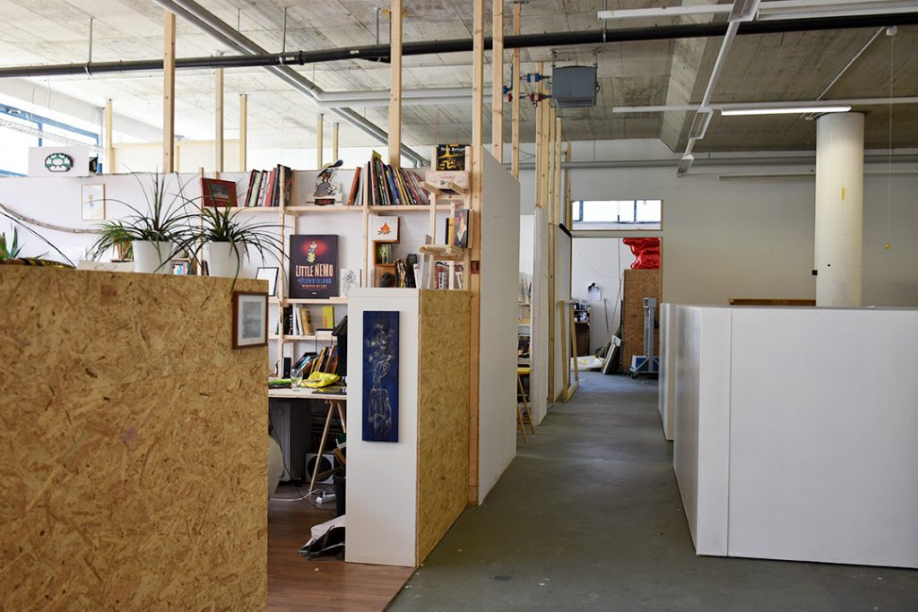 Vue des ateliers de Bellevaux Photo © Corine Stübi