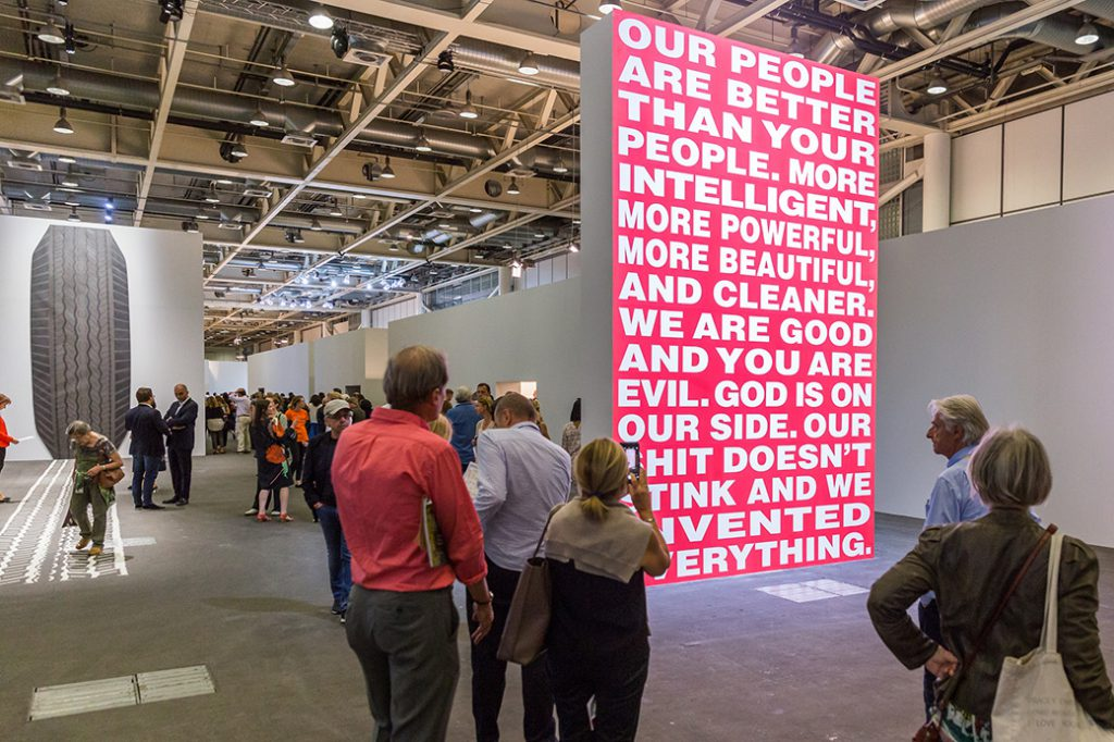 Barbara Kruger, « Untitled (Our people are better than your people) » (1994). Photo © Art Basel