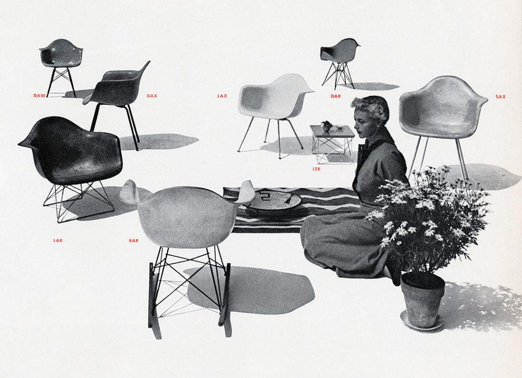La plastic armchair de Eames dans le catalogue d'Herman Miller, 1952. © Herman Miller archive
